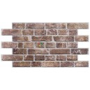 3D PVC panel Brick Retro Brown