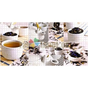 3D PVC panel Mosaic Tea Ceremony